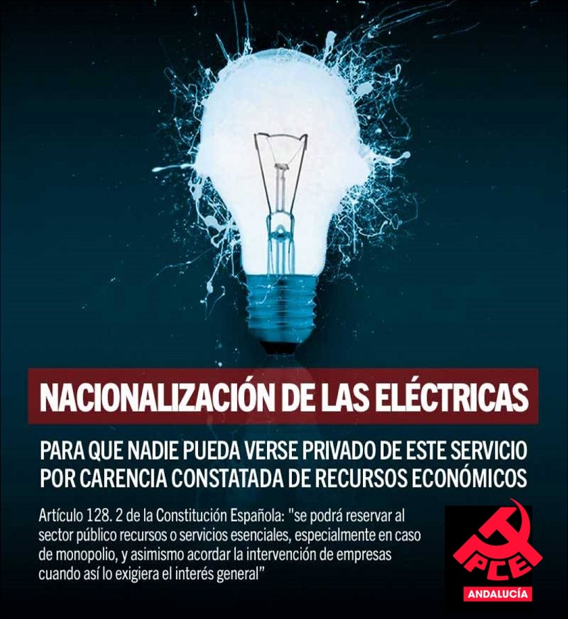 Nacionalización eléctricas YA!!