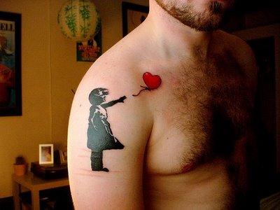 Graffiti Tattoos on Art Sci  Banksy Tattoos Combine Graffiti With Body Art
