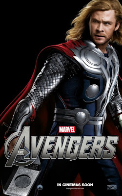 The Avengers Character One Sheet Movie Poster Set 2 - Chris Hemsworth as Thor