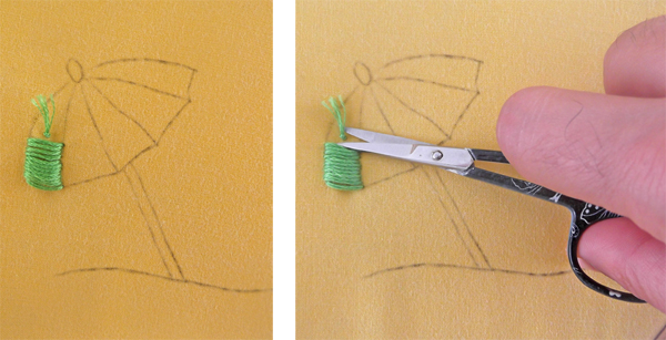 how to stitch without knot, start stitching