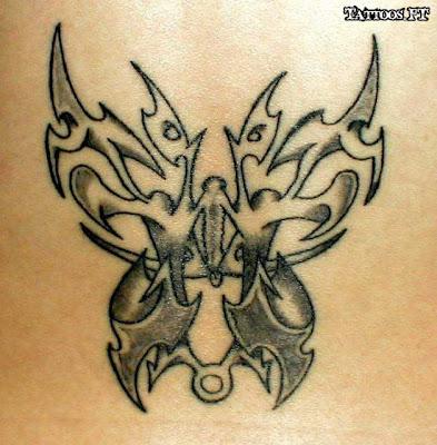 Borboleta tribal Tatuagens