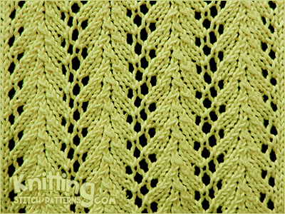 Knitting Reversible Lace Stitches : Vine lace Knitting Stitch Patterns