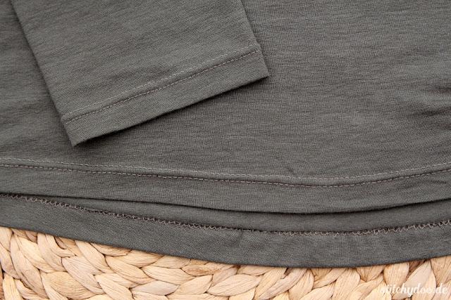 stitchydoo: Jersey Blusenshirt von lillesol und pelle | Säumen mit der Zwillingsnadel
