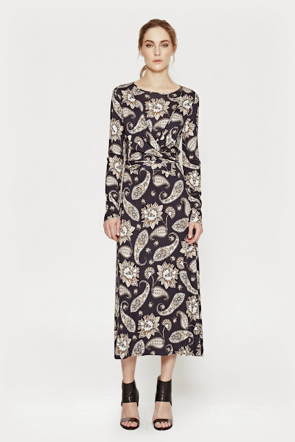paisley midi dress, french connection paisley dress,