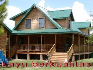 jual rumah kayu panggung woloan desain unik rumah kayu