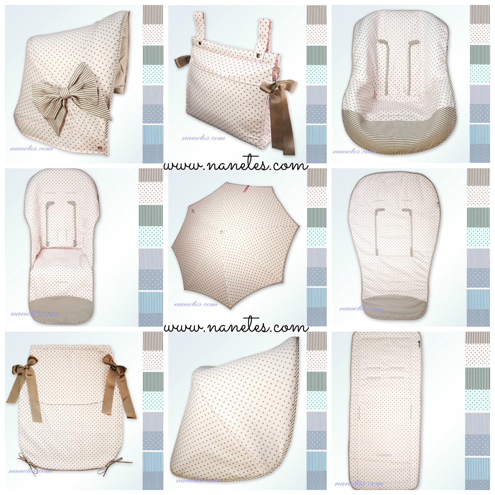 Nanetes personalizar el carrito del beb - Fundas para cambiador de bebe ...