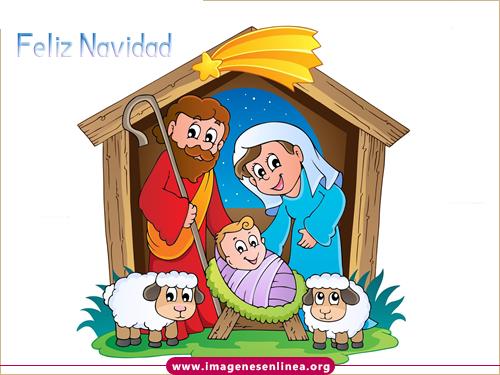 Feliz navidad, imagenes de navidad para compartir en Facebook, niño Jesús en el pesebre