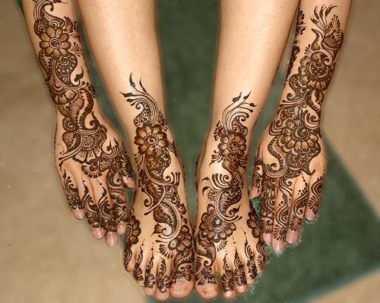 Mehndi Designs For Dulha : Womenfashion dulhan mehndi designs for legs