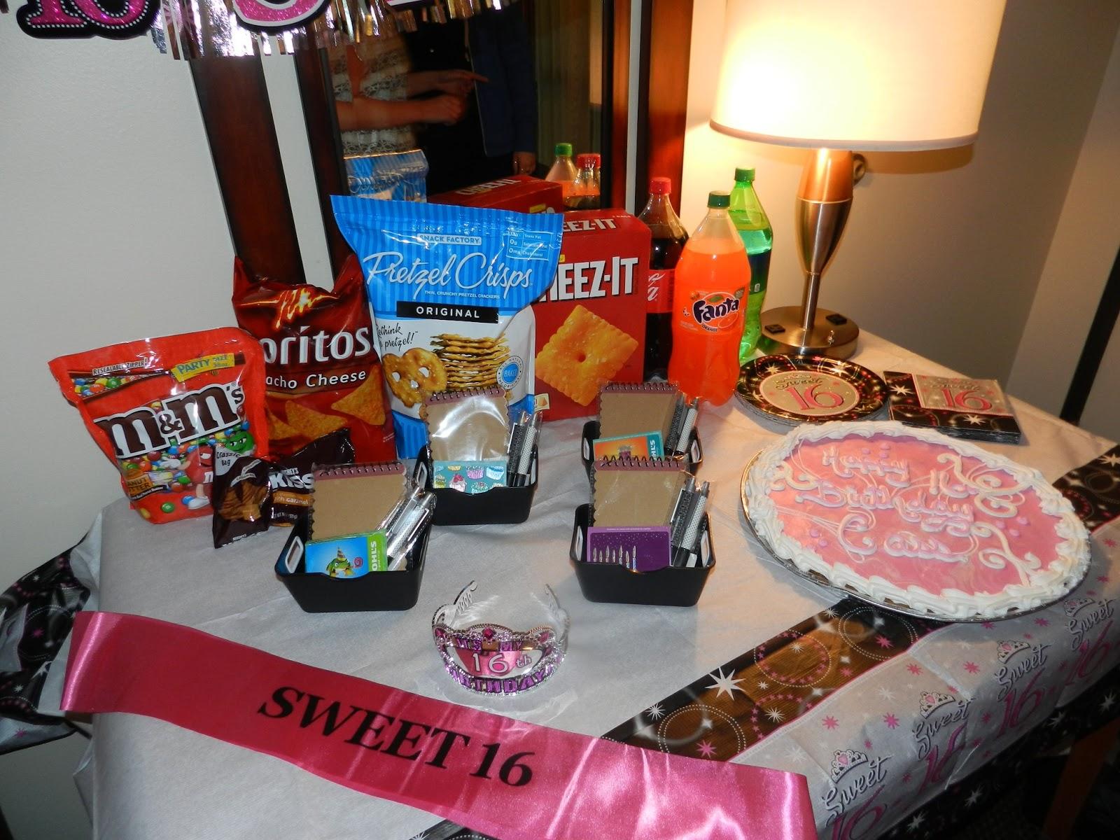 The arnott family blog sweet sixteen celebration for Hotel room decor for birthday