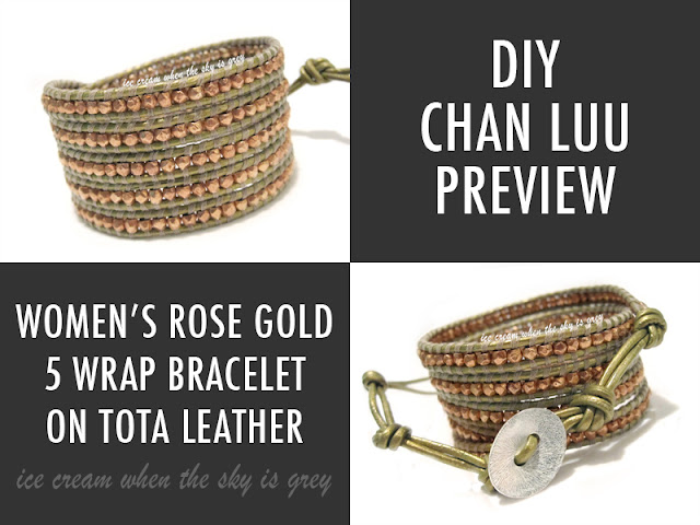DIY: Chan Luu Rose Gold 5 Wrap Bracelet On Tota Leather (Preview)