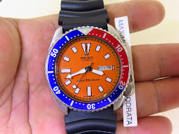 SEIKO DIVER 6309 7290 ORANGE DIAL PEPSI BEZEL - AUTOMATIC