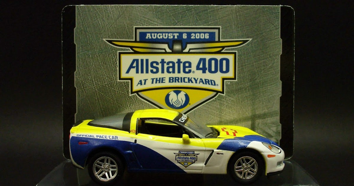 Diecast Hobbist 2006 Chevrolet Corvette Z06 Allstate 400 Pace Car