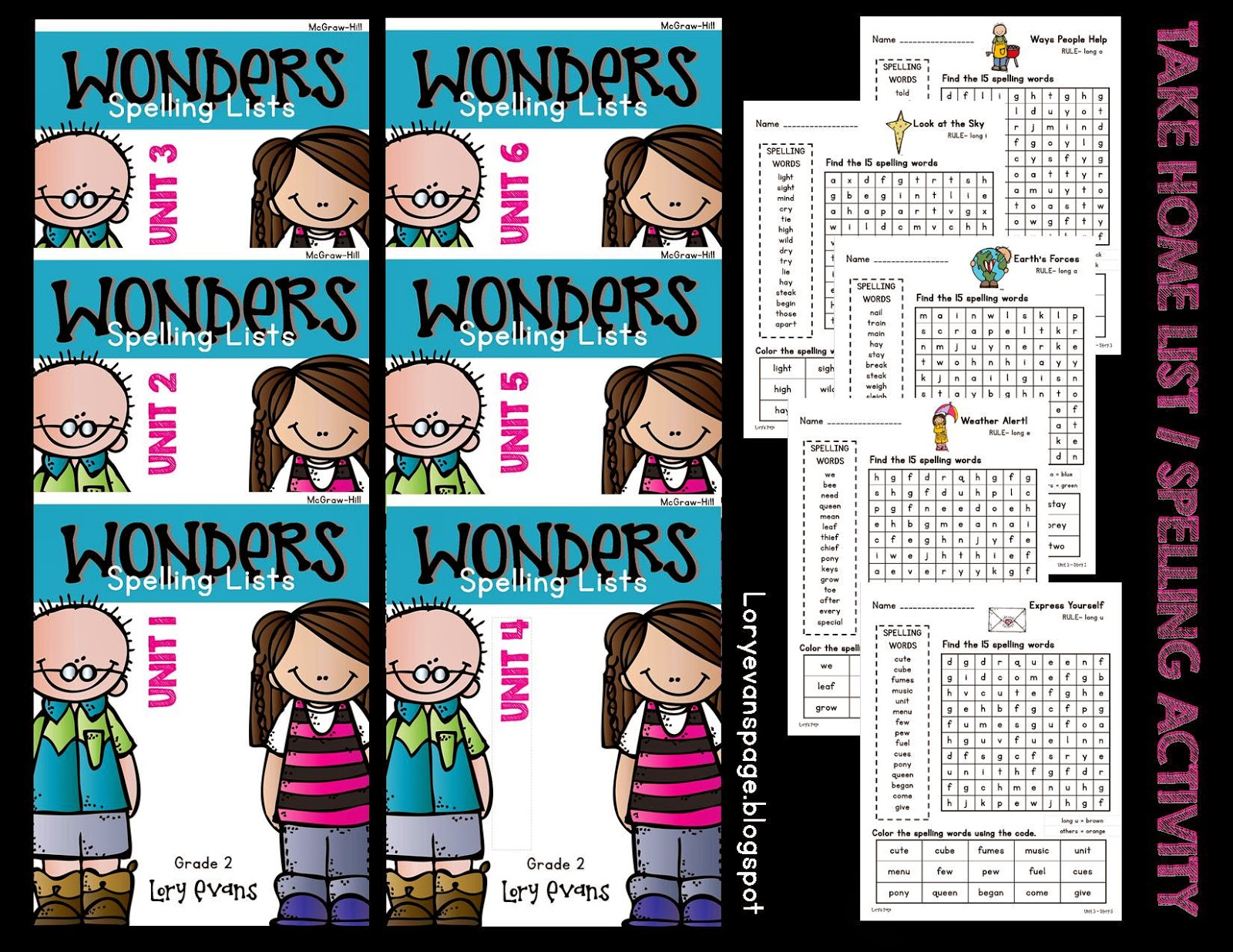 Lory\'s 2nd Grade Skills: McGraw-Hill WONDERS Spelling Lists