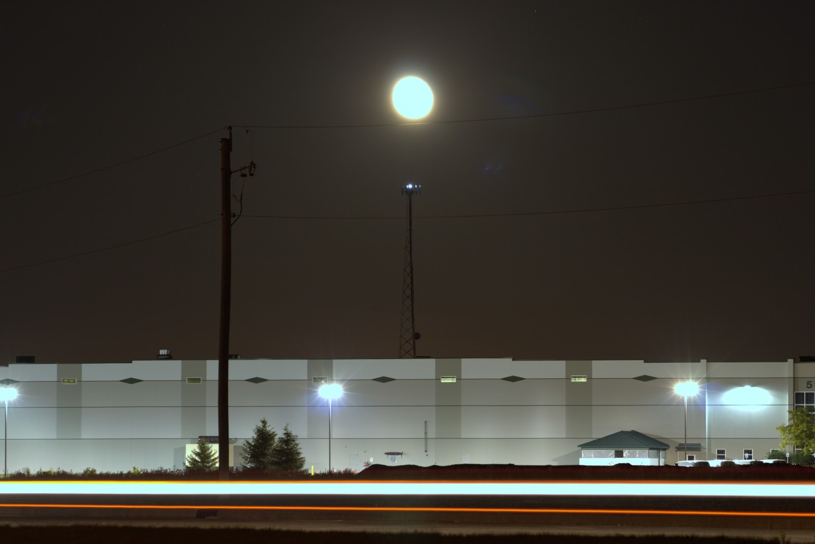 moon over warehouse