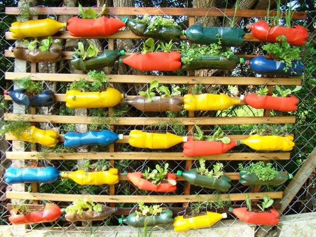 plantas para jardim vertical de garrafa pet:Jardim Vertical De Garrafas Pet