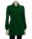 New Tulle Coats Just Arrived! Green is so on Trend for Fall!