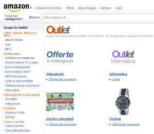 Amazon offerte e outlet