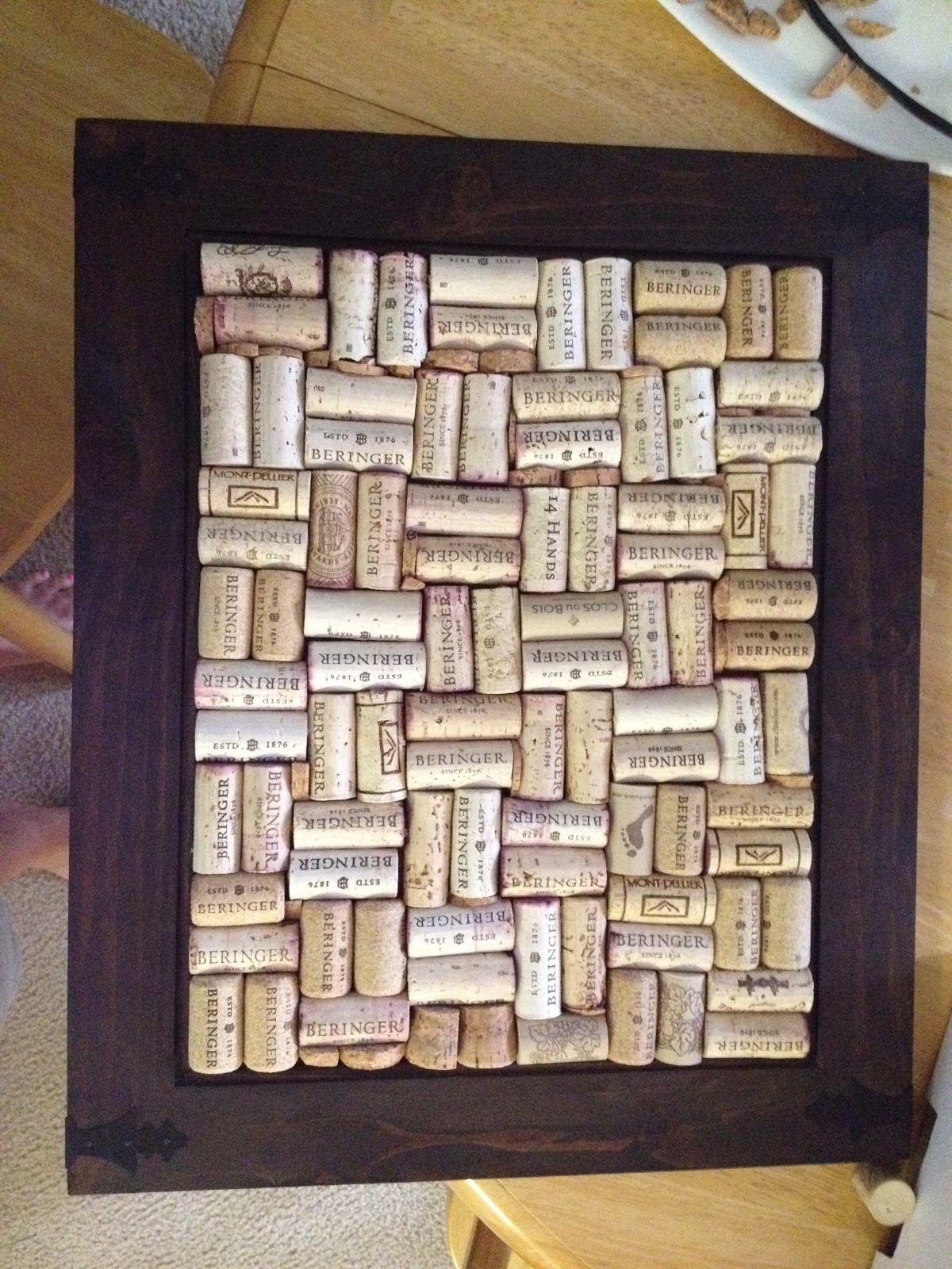 annie edna napa valley and diy wine cork board