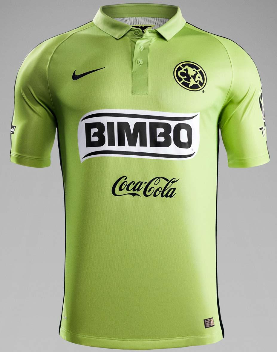 Nike hi vis club america 2015 third kit revealed footy for Cuarto kit del america