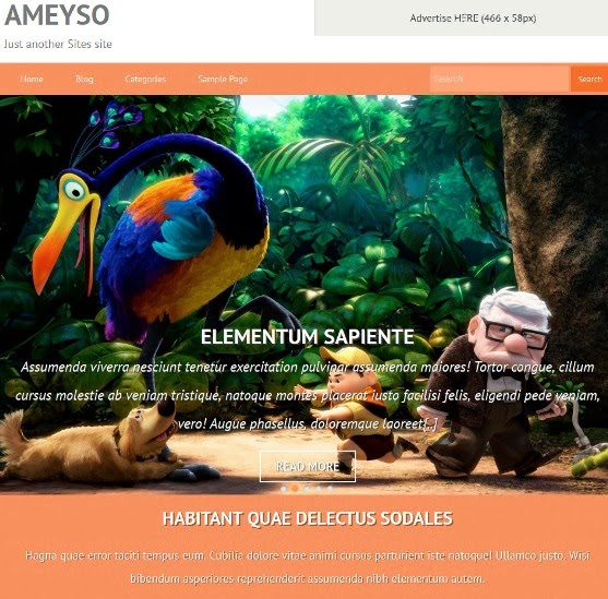 Ameyso Free Responsive WordPress Theme