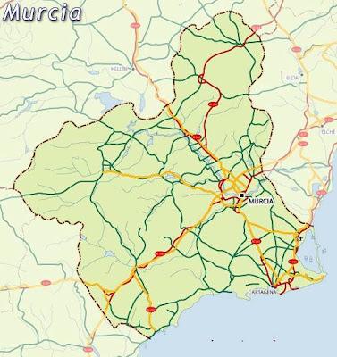 Murcia Mapa Ciudad de la Región
