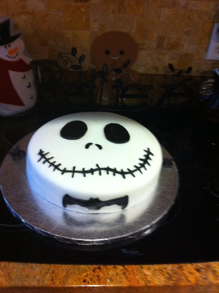 Dliteful Creations and Designs!: Jack from The Nightmare before Christmas cake!