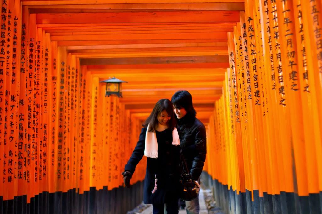Pareja japonesa Fushimi Inari