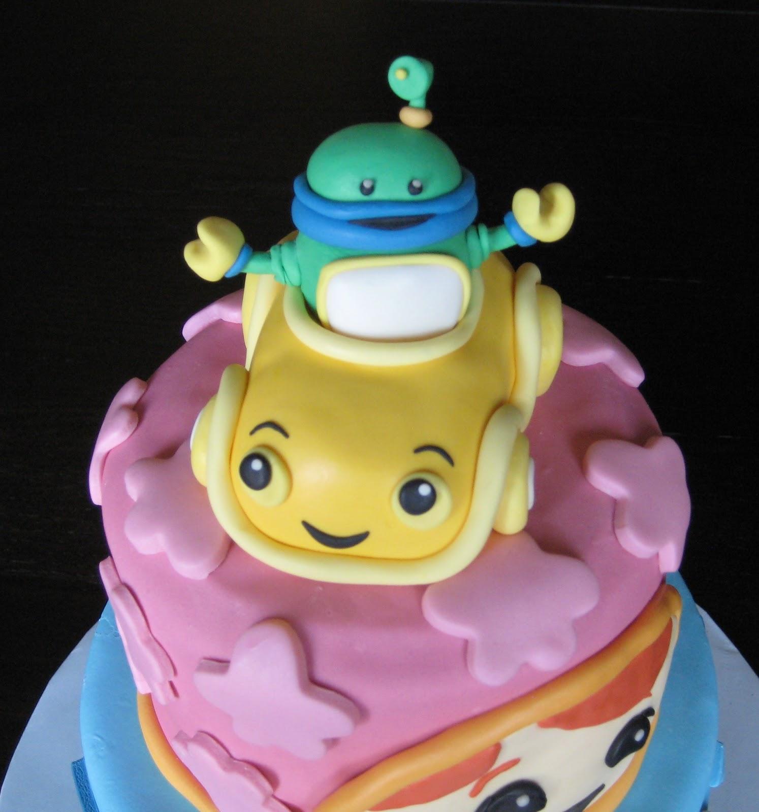 Bot  amp  Umi-car made of cereal treats  amp  gum pasteTeam Umizoomi Cake