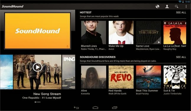 SoundHound android apk - Screenshoot