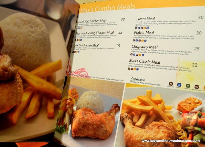 Max's restaurant Dubai Combo Meals