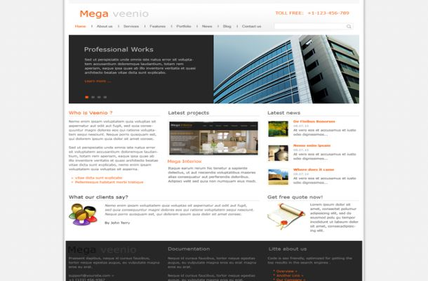 Orange Business Free Joomla Theme Template
