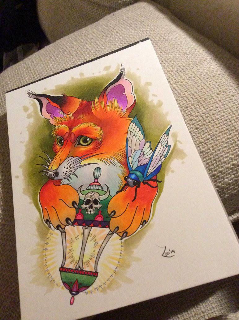 fox-and-lantern
