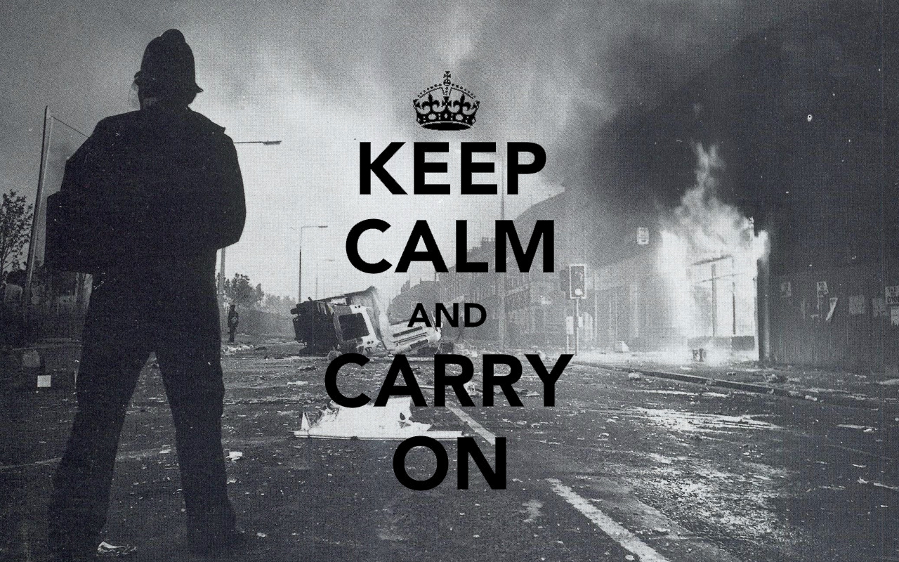 wallpaper a day: keep calm and carry on riot wallpaper