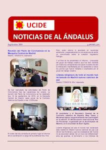 Noticias de Al Ándalus de septiembre 2019