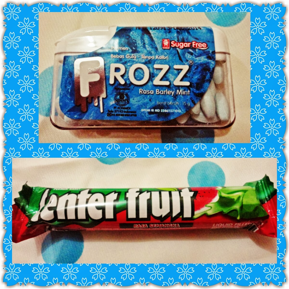 frozz, center fruit, candy