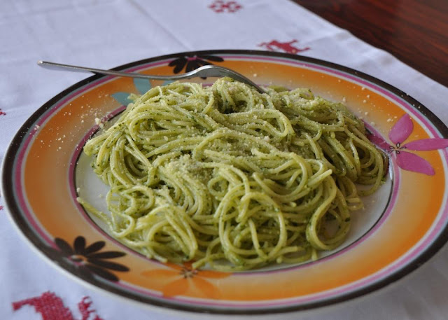 Pesto Pasta Recipe by www.dish-away.com