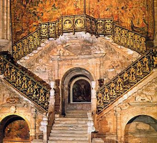 Escalera Dorada de la Catedral de Burgos. Catedral de Burgos. Iglesias por el mundo