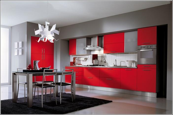 DECO CHAMBRE INTERIEUR: Inspiration de décor en rouge vif, gris et ...