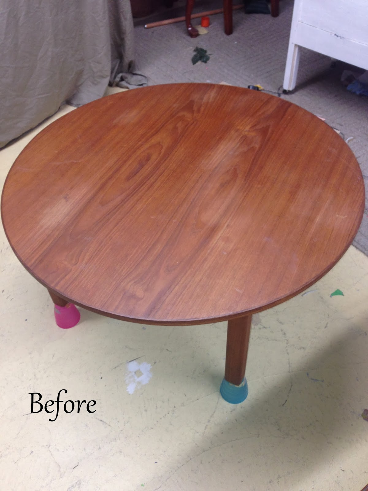White Washing A Table - Before