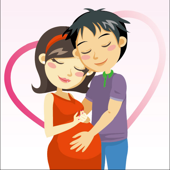 Foto mujer embarazada en caricatura - Imagui