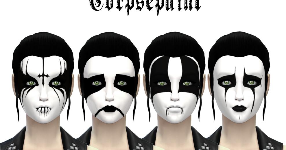 Black Metal Corpse Paint Female