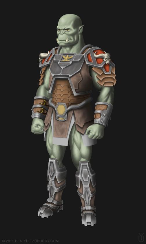 fantasy orc captain concept