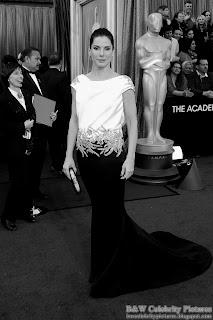 Sandra Bullock over red carpet at 2012 Academy Awards - Oscar arrival