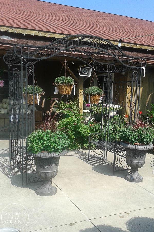 Garden trellis at Mason's Farms in Erie, PA