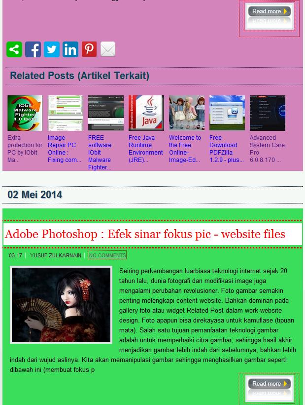 background warna resume post website design
