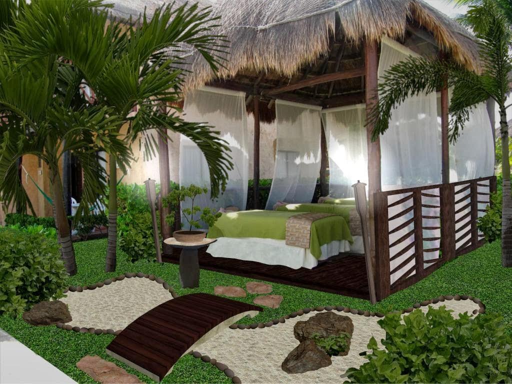 Dise o de jardines peque os palapa de masage y spa hotel - Diseno de cascadas para jardin ...