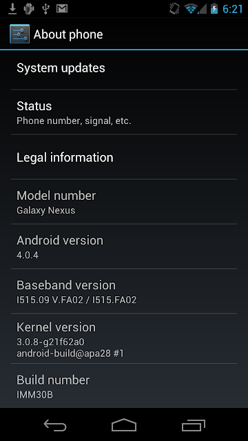 IMM30B Android 4.0.4 Galaxy Nexus Stock ROM