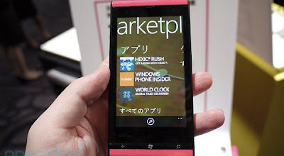 Fujitsu IS12T Windows Phone Mango