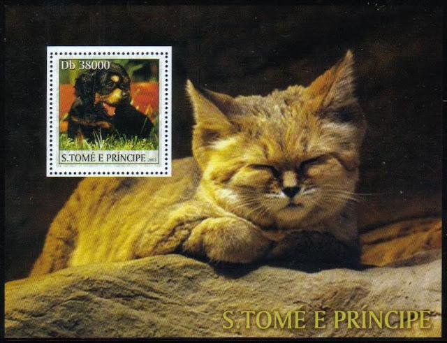2003年サントメ・プリンシペ民主共和国 子犬と子猫の切手シート
