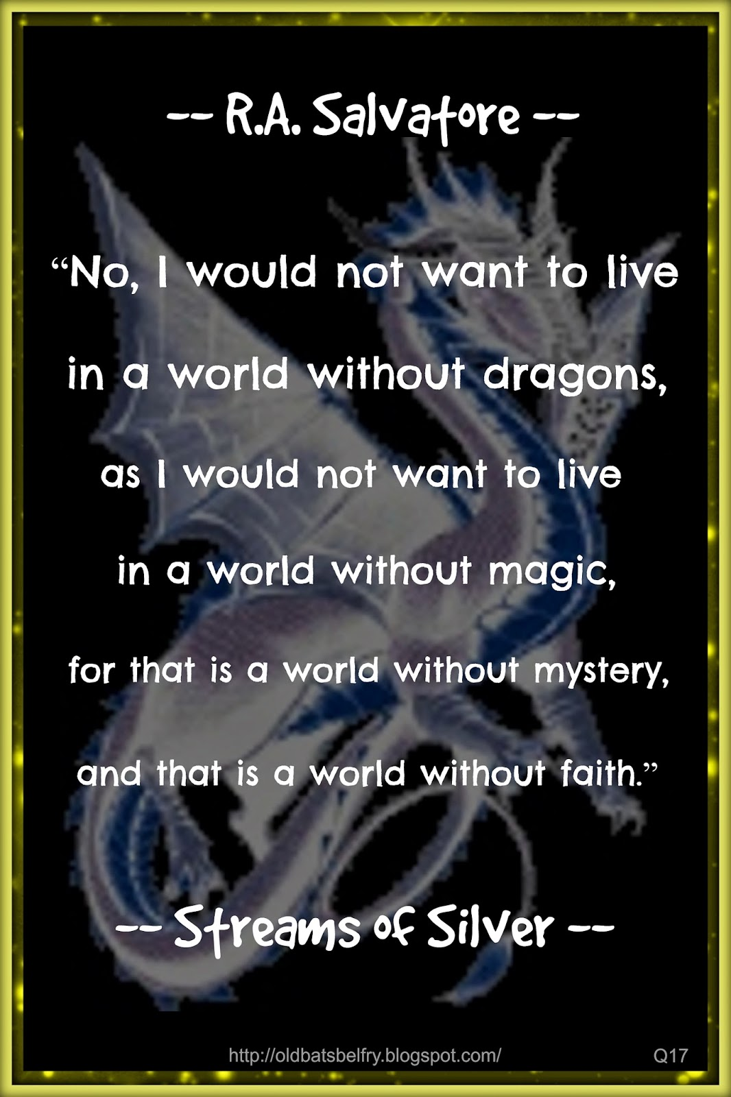 Silver Stream Book Quote by R.A. Salvatore ~ Design by Mulluane